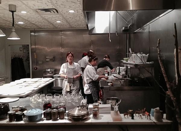 Elizabeth group of chefs in kitchen