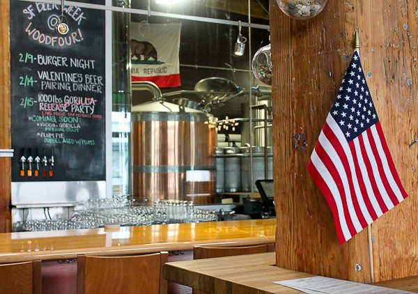 Beer counter with flag