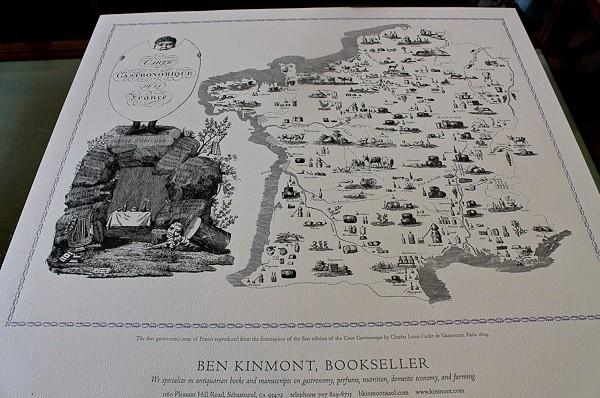 Ben gastronomic map of France