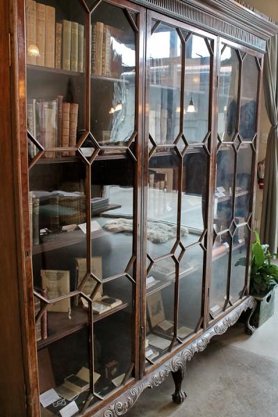 Ben glass bookcase