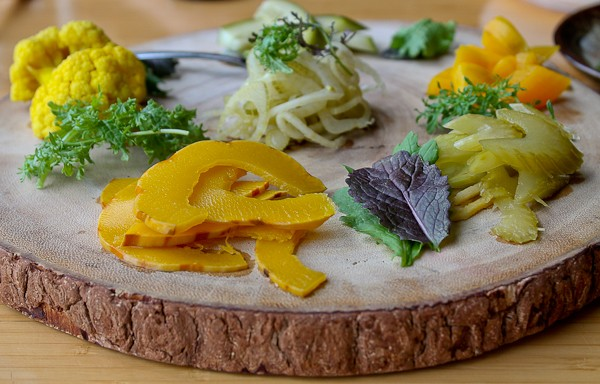 Pickled veggies close up