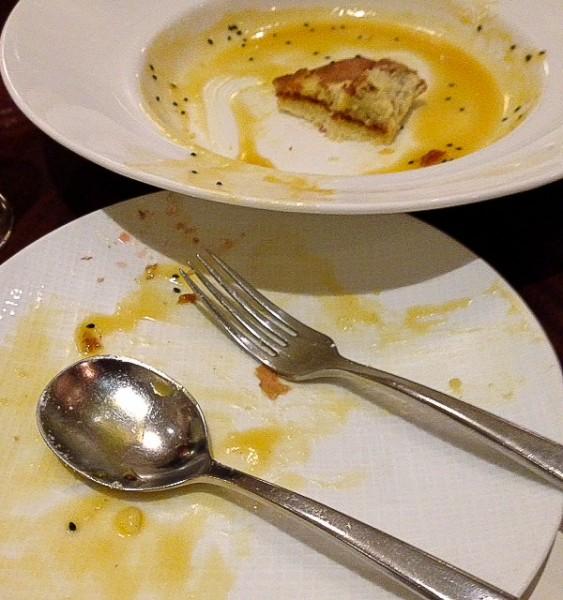 Crepe souffle eaten
