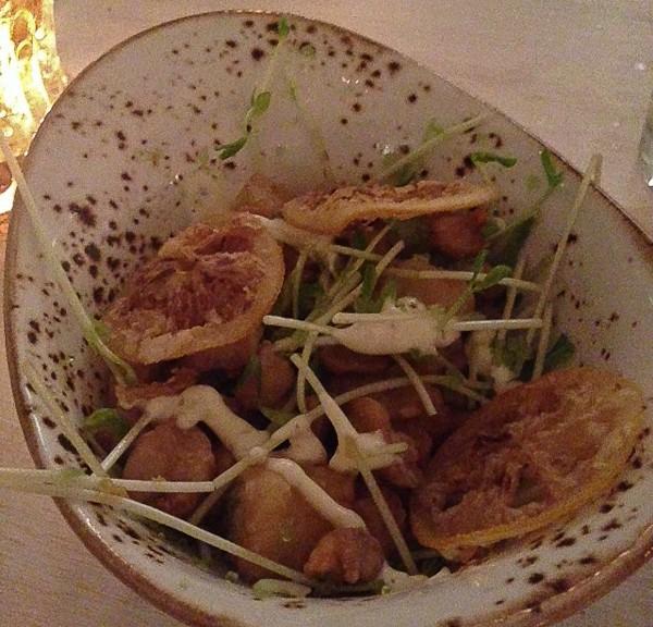 Fulton scallops and lemon