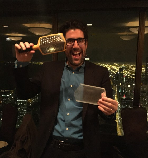 Joseph with grater