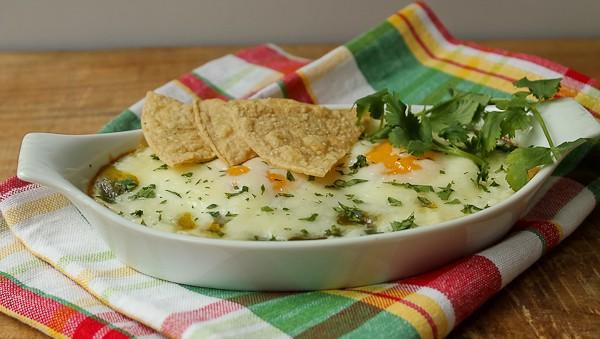 Monterey eggs white bowl plaid napkin