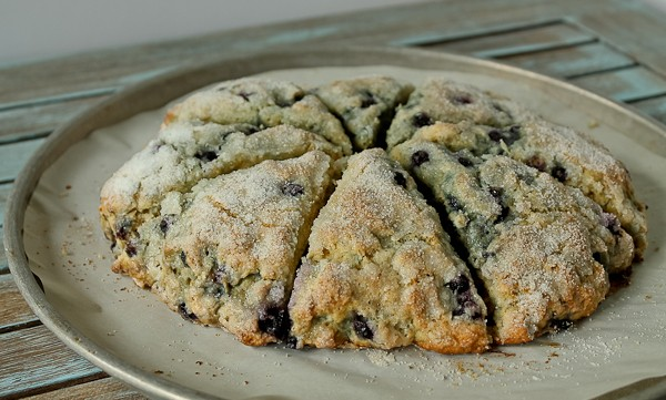 Blueberry Scones in pan