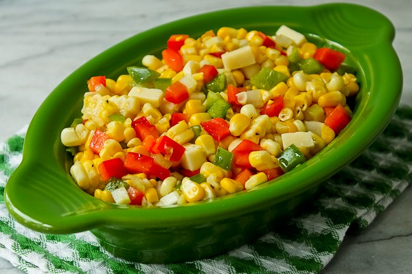 French corn green bowl