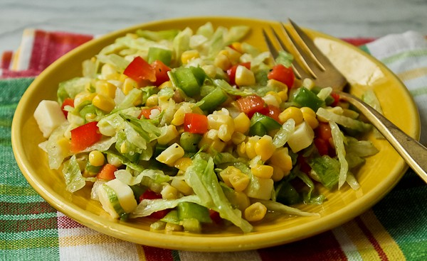 French corn with lettuce