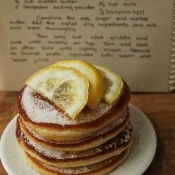 Scottish pancakes with recipe