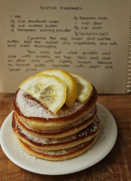 Scottish pancakes with recipe