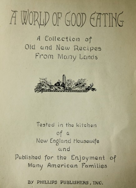 World of Good Eating title page