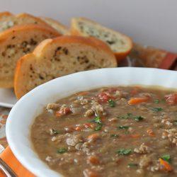 Sausage Lentil Soup 1