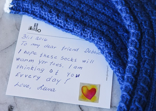 Leena blue Finn socks 2