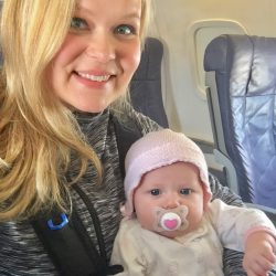 Kara and Vivi first plane ride