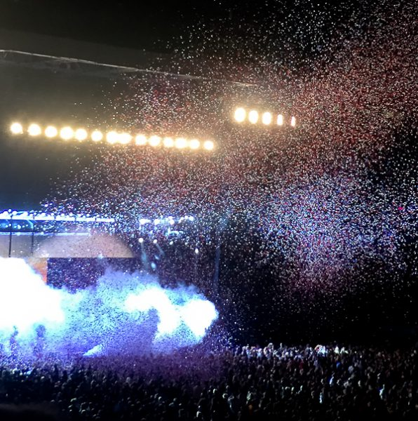MetLife Stadium with confetti