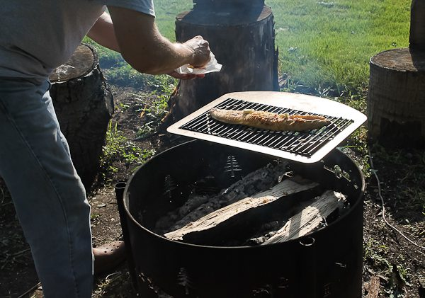 Pit cooking fish 1