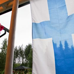 Farmhouse Finnish flag 1
