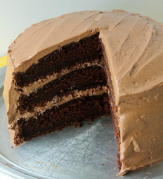 Bills ThreeLayer Chocolate Cake The Culinary Cellar
