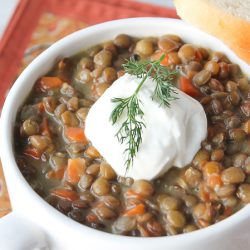 Lentil Soup with Dill 2