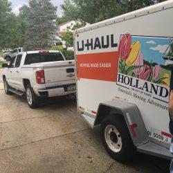 Del's truck and UHAUL