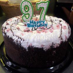 Mom's 97th birthday cake
