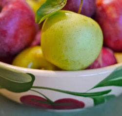 Apples in antique bowl 2