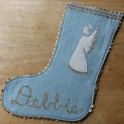 Debbie's angel Christmas stocking