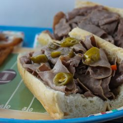Italian Beef Football Sandwiches 5