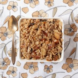almond bacon brown rice