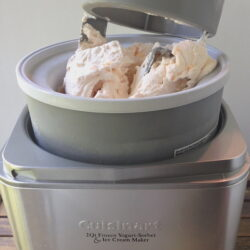 Peach-ice-cream-showing-Cuisinart